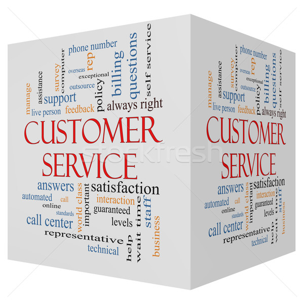 Customer Service 3D cube Word Cloud Concept Stock photo © mybaitshop