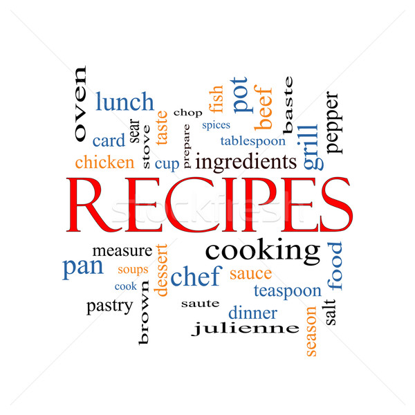 Recipes Word Cloud Concept Stock photo © mybaitshop