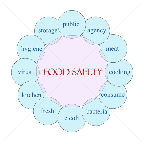 Food Safety Circular Word Concept Stock photo © mybaitshop