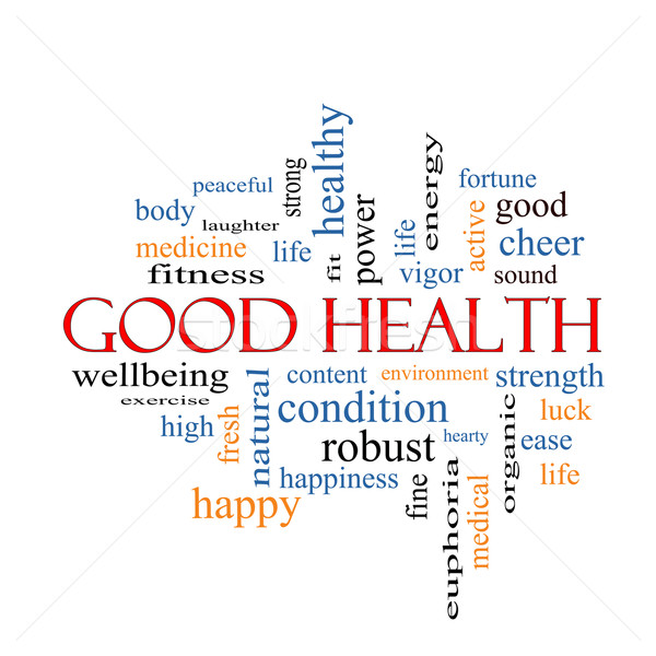 Good Health Word Cloud Concept Stock photo © mybaitshop