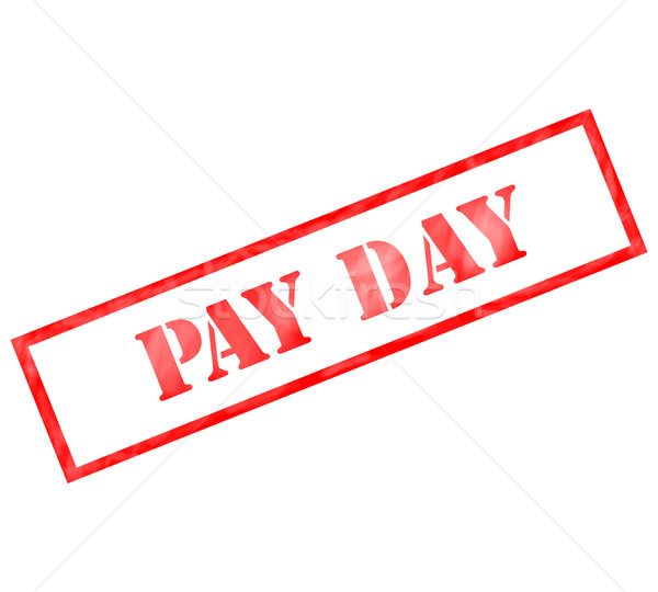 Pay Day Red Rectangle weathered stamp Stock photo © mybaitshop