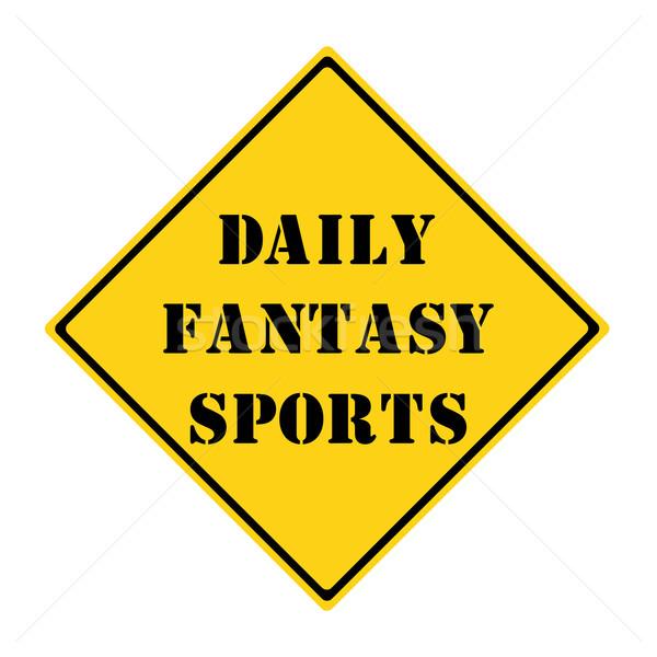 Dagelijks fantasie sport teken Geel zwarte Stockfoto © mybaitshop