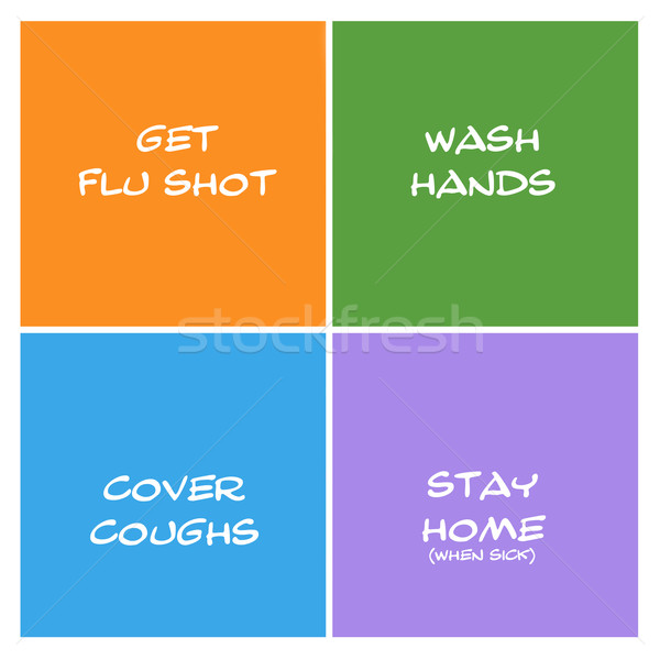 Stop the Spread of Flu Boxes Stock photo © mybaitshop