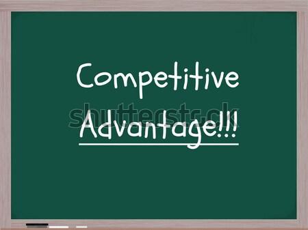 Competitivo ventaja pizarra palabras escrito blanco Foto stock © mybaitshop