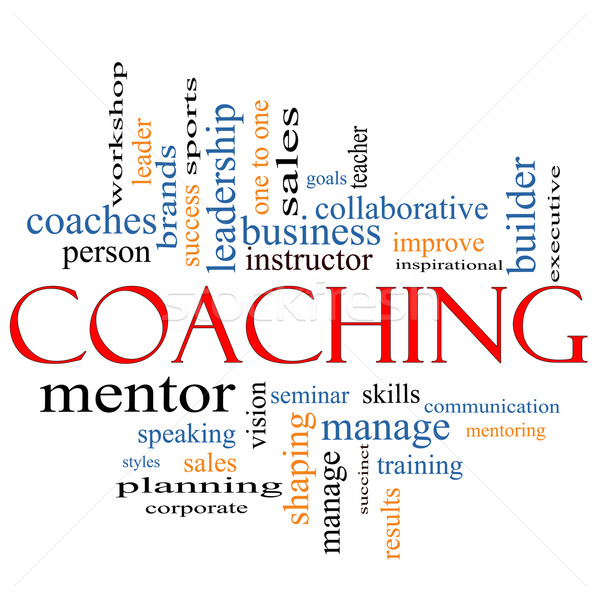 Stock photo: Coaching Word Cloud Concept
