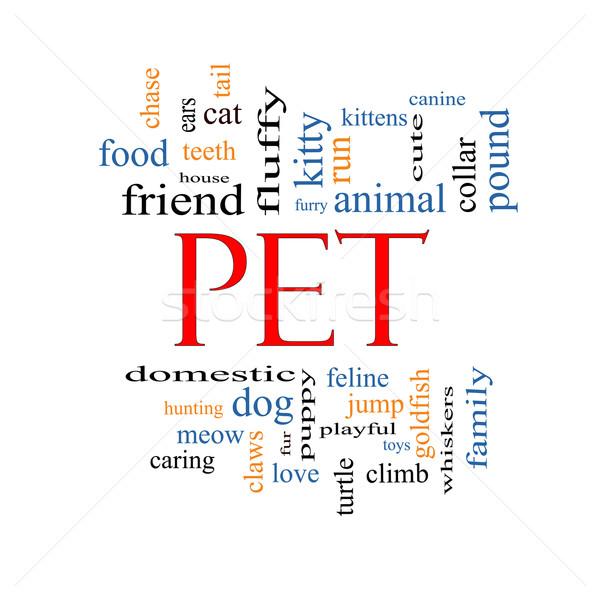 ペット 言葉の雲 猫 カメ 犬 ストックフォト © mybaitshop