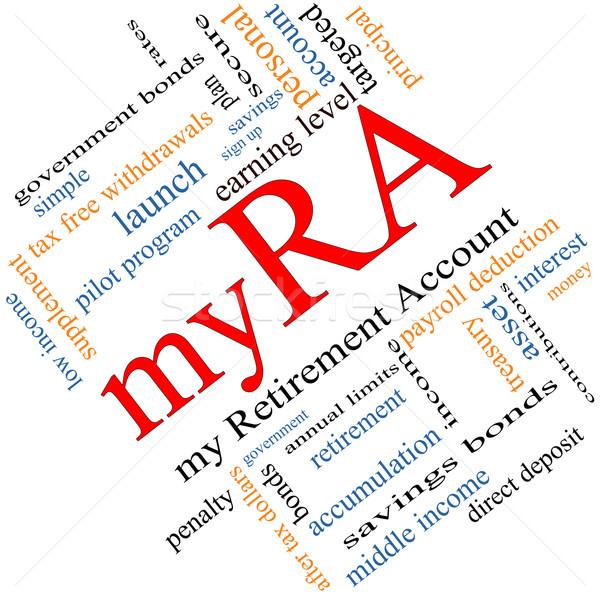 myRA Word Cloud Concept Angled Stock photo © mybaitshop