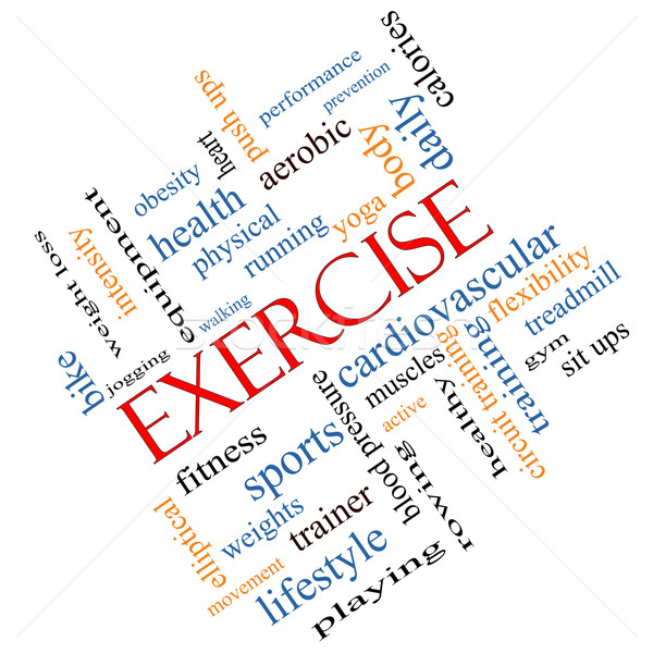 Exercise Word Cloud Concept Angled Stock photo © mybaitshop