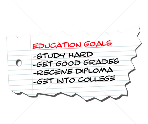 Education Goals on Ripped Paper Stock photo © mybaitshop