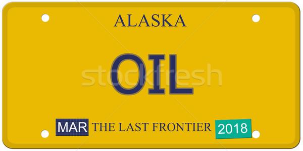 нефть Аляска номерной знак имитация слово последний Сток-фото © mybaitshop