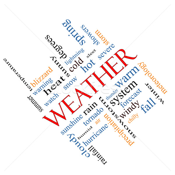 Stock photo: Weather Word Cloud Concept Angled