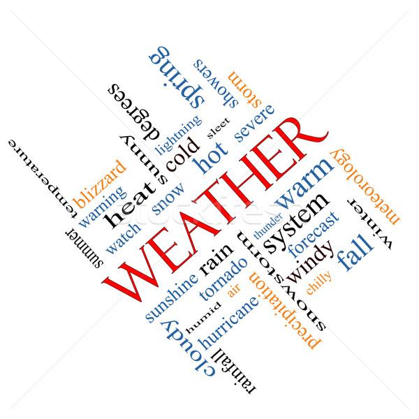 Weather Word Cloud Concept Angled Stock photo © mybaitshop