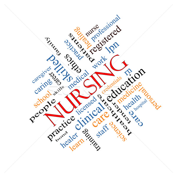 Nursing Word Cloud Concept Angled Stock photo © mybaitshop