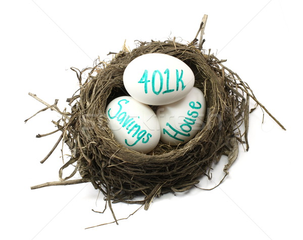 Stock foto: Nest · Ei · Vögel · Eier