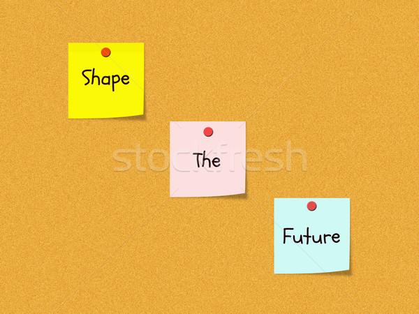 Forma jövő közlöny tábla írott színes Stock fotó © mybaitshop