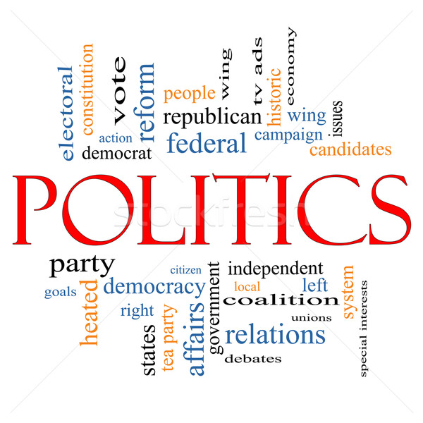 Politics Word Cloud Concept Stock photo © mybaitshop