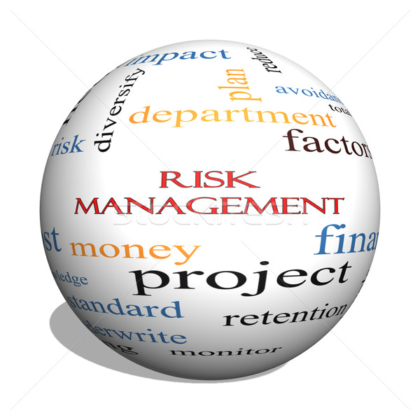 Risk Management 3D sphere Word Cloud Concept Stock photo © mybaitshop