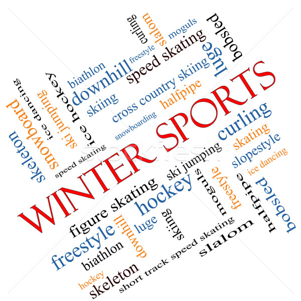Winter Sports Word Cloud Concept Angled Stock photo © mybaitshop