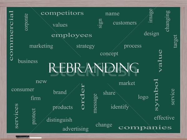 Kelime bulutu tahta muhteşem pazar iş logo daha fazla Stok fotoğraf © mybaitshop