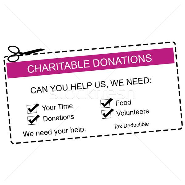 Charitable Donations Purple Coupon Stock photo © mybaitshop