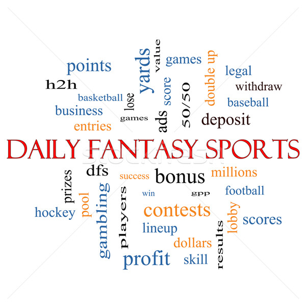 Daily Fantasy Sports Word Cloud Concept  Stock photo © mybaitshop
