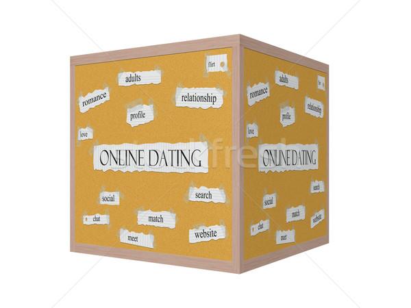 Online dating 3D słowo romans Zdjęcia stock © mybaitshop