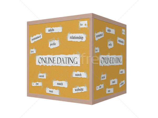 Online Dating 3D Corkboard Word Concept Stock photo © mybaitshop