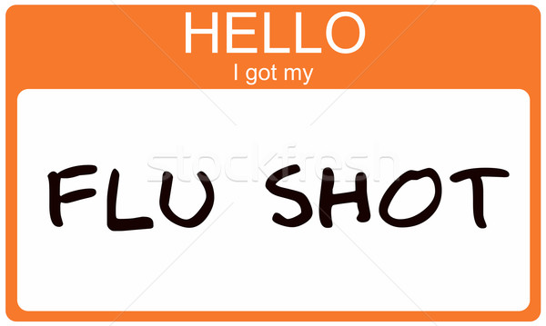 Hello I got my Flu Shot Stock photo © mybaitshop