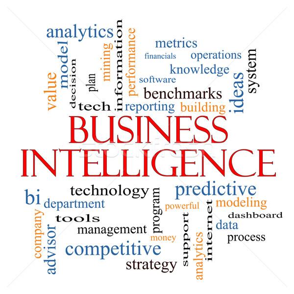 Zdjęcia stock: Działalności · inteligencja · chmura · słowo · analityka · więcej