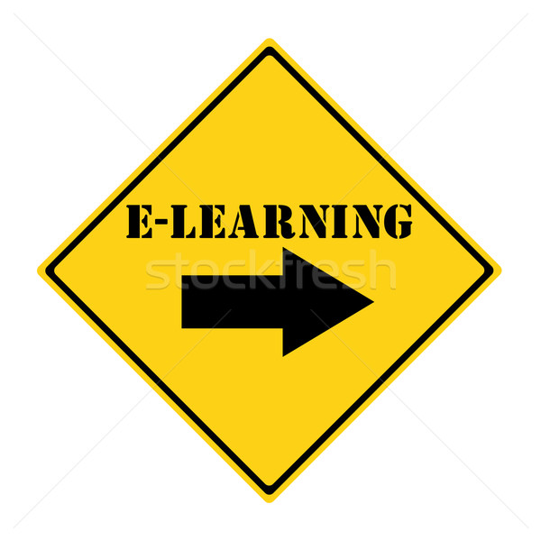 E-Learning that way Sign Stock photo © mybaitshop