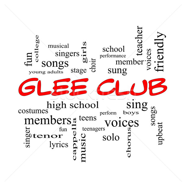 Glee Club Word Cloud Concept in red caps Stock photo © mybaitshop