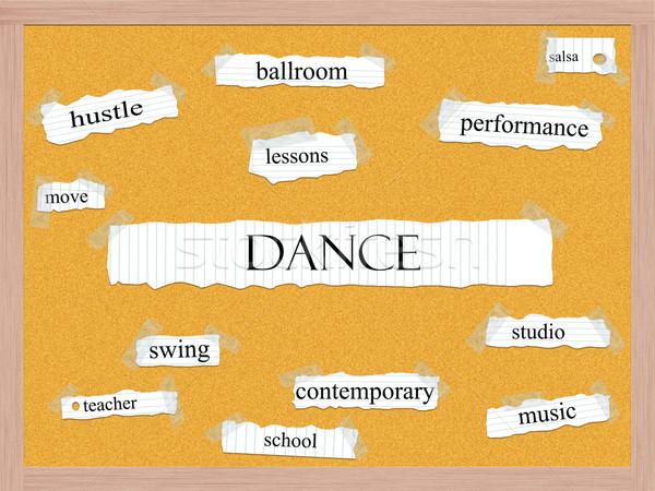 Dance Corkboard Word Concept Stock photo © mybaitshop