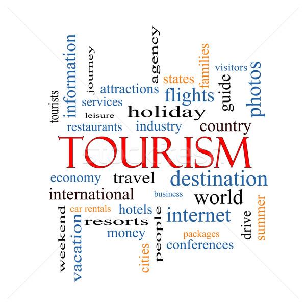 Tourism Word Cloud Concept Stock photo © mybaitshop