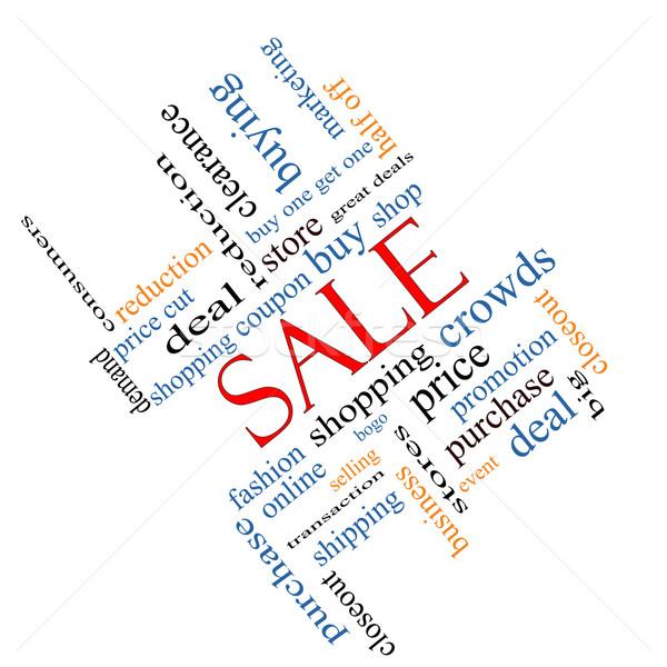 Sale Word Cloud Concept Angled Stock photo © mybaitshop