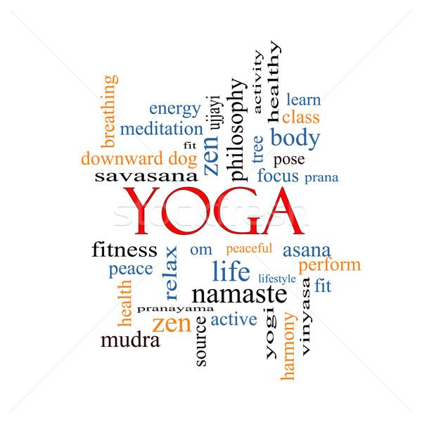 Yoga Word Cloud Concept Stock photo © mybaitshop