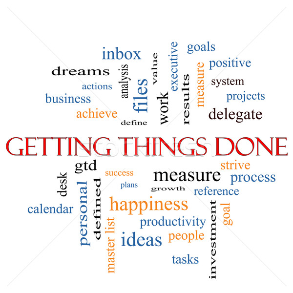 Getting Things Done Word Cloud Concept  Stock photo © mybaitshop