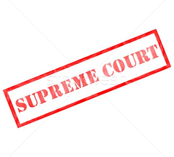 Red rectangle Supreme Court stamp Stock photo © mybaitshop