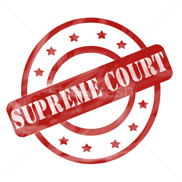 Red Weathered Supreme Court Stamp Circles and Stars Stock photo © mybaitshop