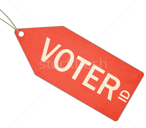 Eleitor vermelho membro etiqueta Foto stock © mybaitshop