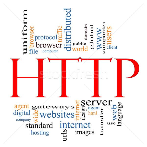 Http szófelhő nagyszerű internet domain szerver Stock fotó © mybaitshop