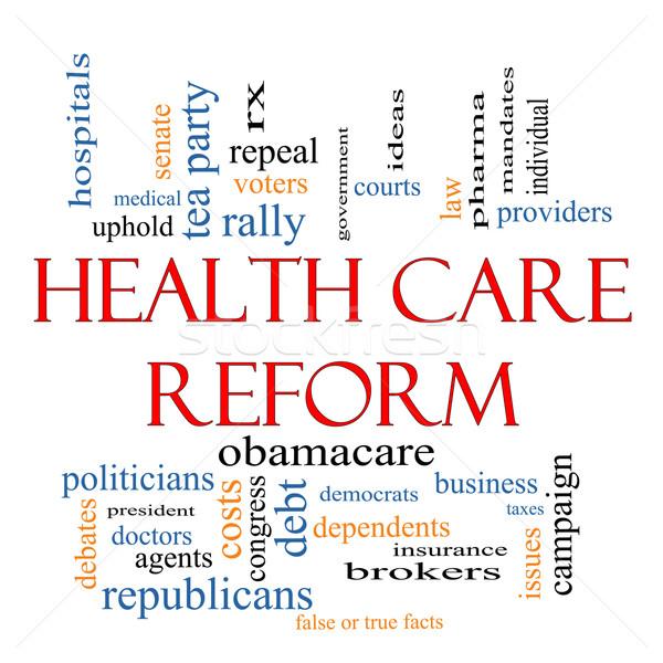 Réforme nuage de mots magnifique santé politique Photo stock © mybaitshop