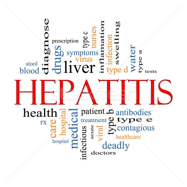 Hepatitis Word Cloud Concept Stock photo © mybaitshop