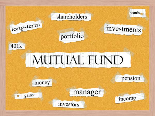 Mutuelle fonds mot nuage de mots mots portable Photo stock © mybaitshop