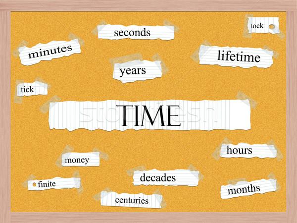 Time Corkboard Word Concept Stock photo © mybaitshop