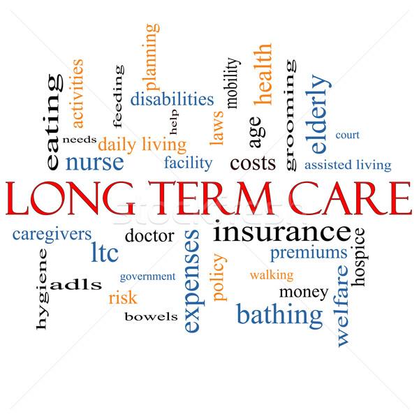 Long Term Care Word Cloud Concept Stock photo © mybaitshop