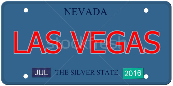 Las Vegas Nevada License Plate Stock photo © mybaitshop
