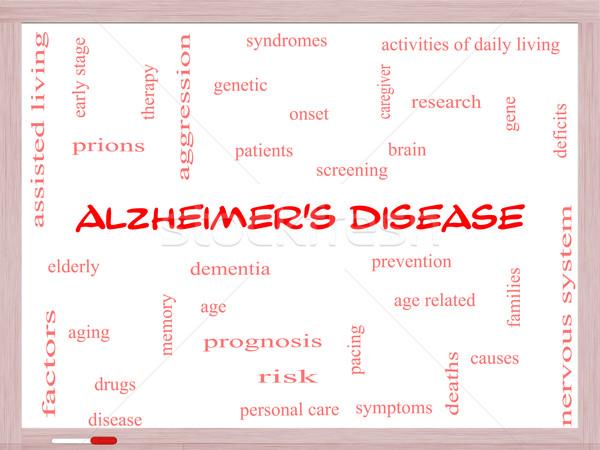 Maladie d'alzheimer nuage de mots magnifique âgées génétique Photo stock © mybaitshop