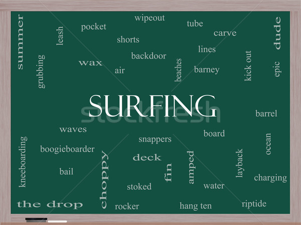 серфинга слово облако доске лет совета Сток-фото © mybaitshop