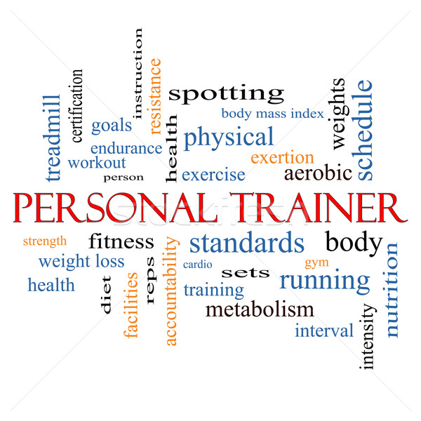 Personal Trainer Word Cloud Concept Stock photo © mybaitshop