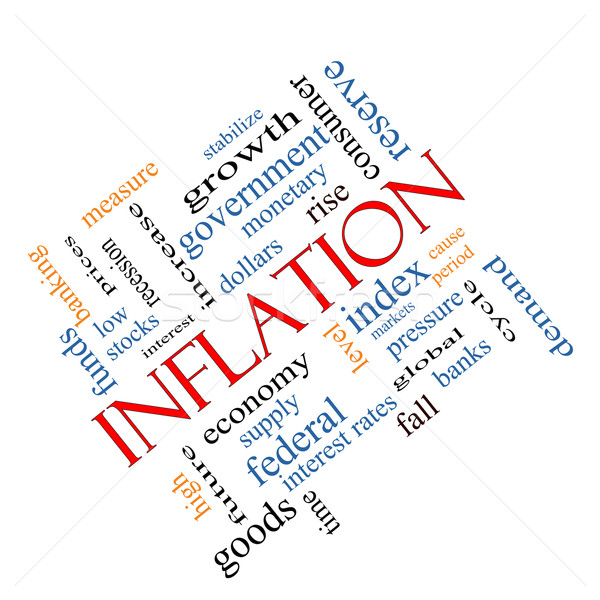 Inflation Word Cloud Concept Angled Stock photo © mybaitshop